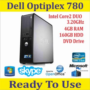 Dell Optiplex 780 USFF Intel Dual Core/ 4GB RAM/160GB HDD